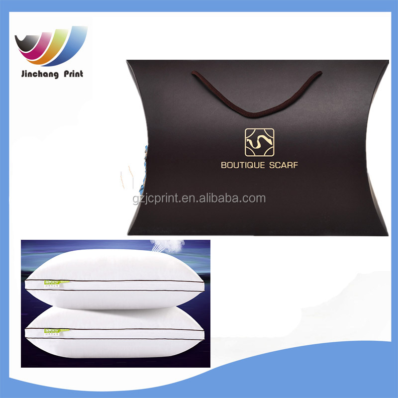 china supplier pillow box with handle/paper box packaging for pillow