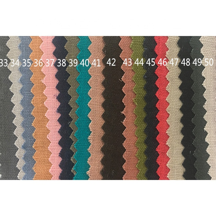 In stock soft Enzyme wash plain dyed stone washed suit 100% linen fabric for garment