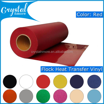 High Quality Red Flock Vinyl Heat Transfer
