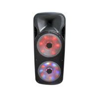 "Portable BT speaker PT-15A 15"" woofer and 2 and 10'' tweeter With USB, TF, FM, AUX and color LED light 150W wireless BT speaker"
