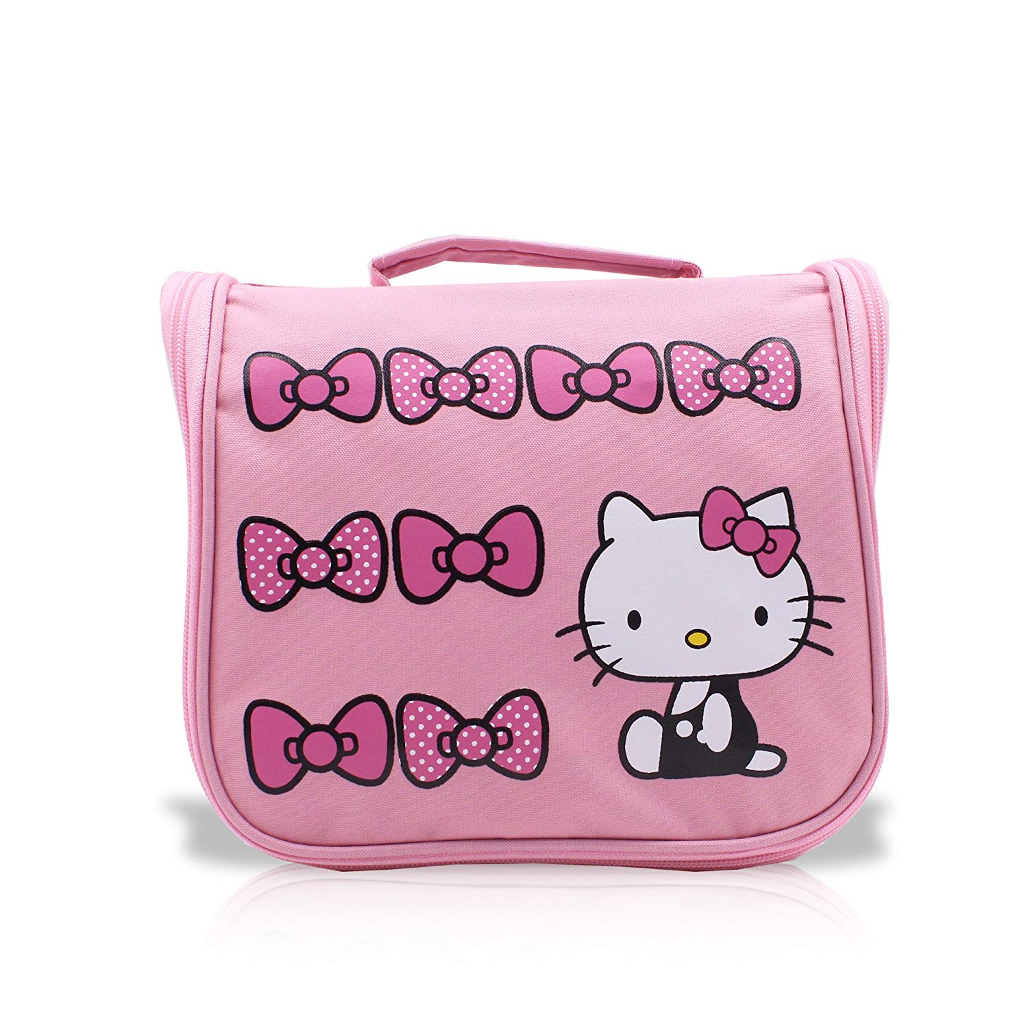 d78f00035b1f LOVEKITTY® 3D Fully Blinged Rhinestones Black Face Pink Bow Foldable Hello  Kitty Inspired Purse Holder