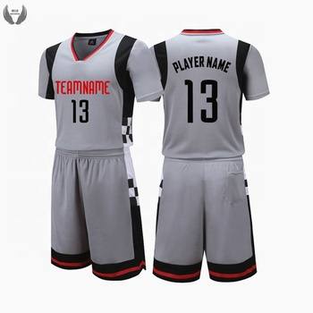 2cda818921b Sublimated Custom Logo Gray Basketball Jersey Design - Buy ...