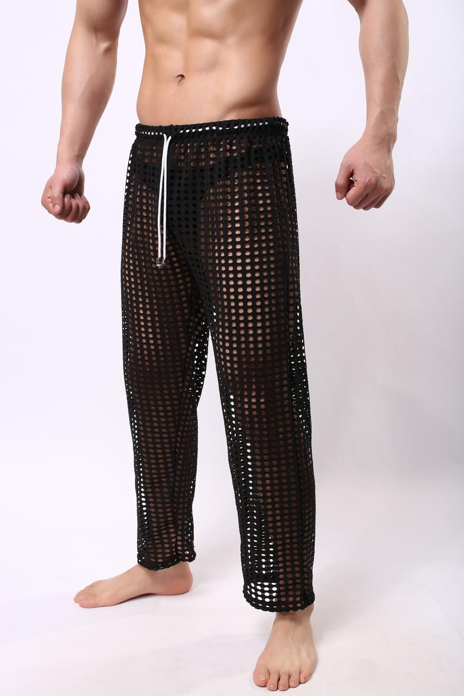 2019 Wholesale Men Sleep Lounge Sexy Mesh Pants For Men ...
