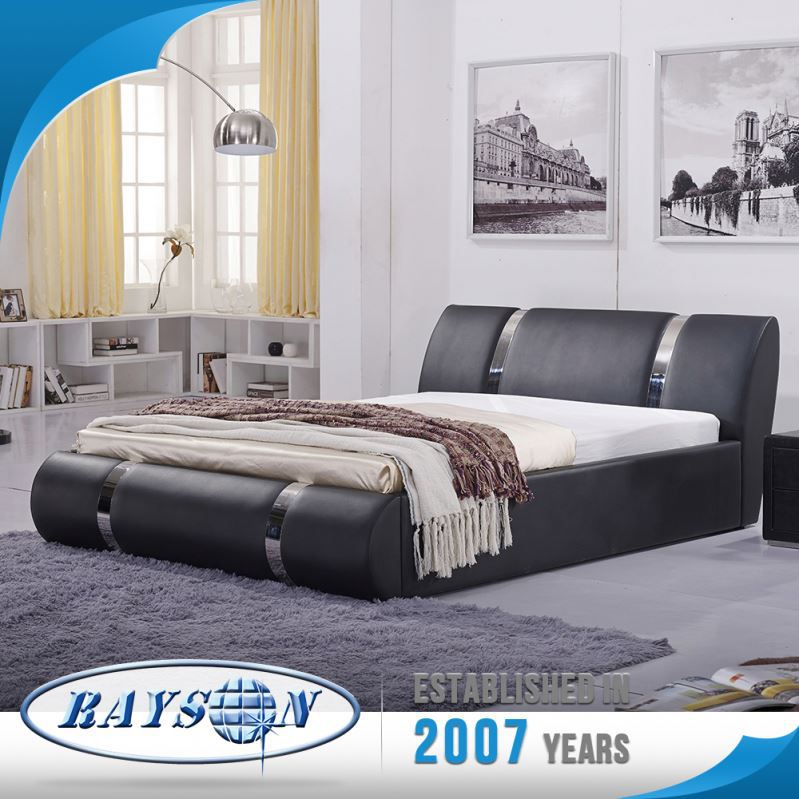From China Lowest Price Stylish Bed India Import Beds