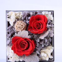 Wholesale New Luxury Preserved Fresh Rose Flower With Crystal Clear Acrylic Box For Gift