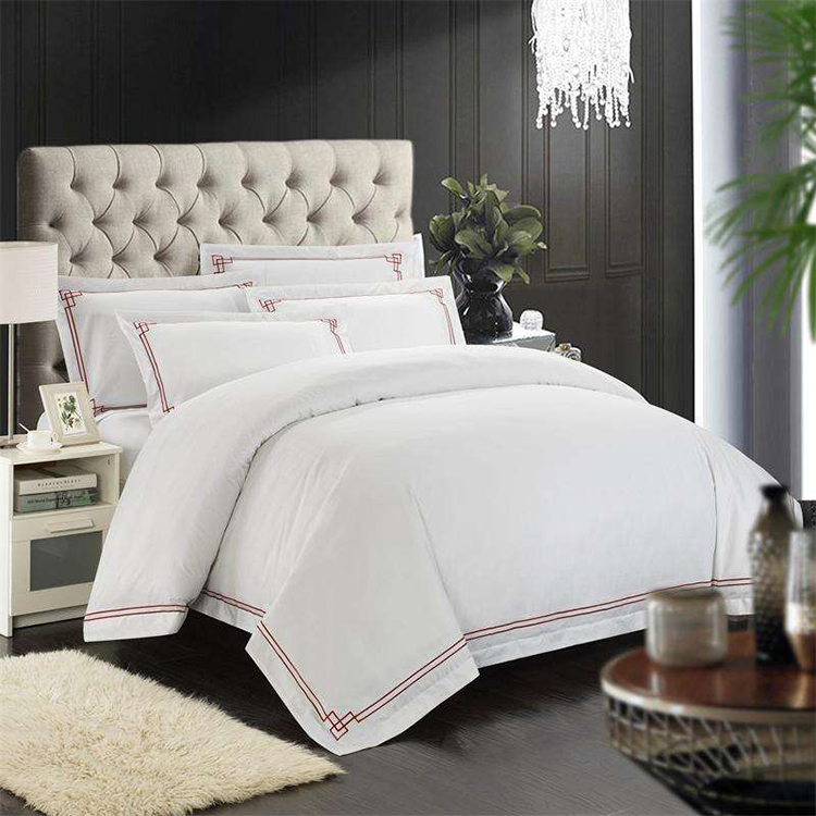 factory provide Comfort manufacturer price nature white Jacquard feather cotton bedding duvet cover