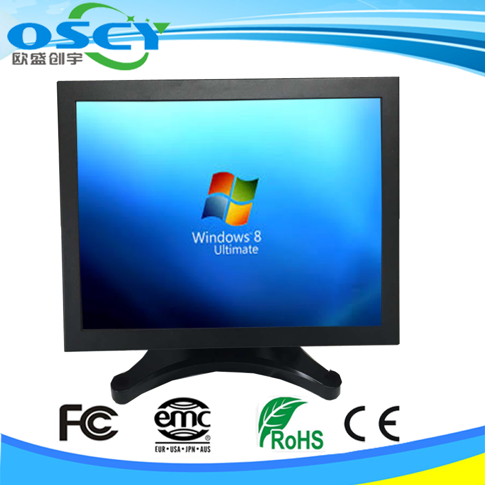 15 inch 1080P CCTV LCD monitor security monitor with Metal housing case