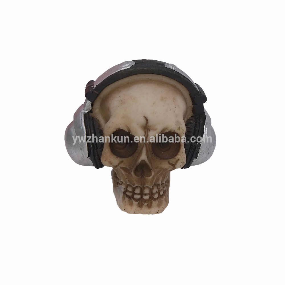 Halloween Decoração Da Casa Com Falante Sem Fio Cabeça Do Crânio de Resina