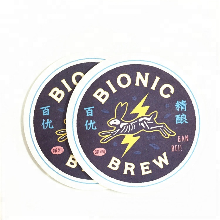 OEM eco-friendly drink coaster set/carta personalizzata bar coaster