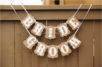 2016 Just Listed Cheap BRIDE GROOM Banners Sign Indoor Wedding Decoration Bridal Shower