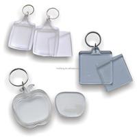 blank keychains clear acrylic keychains plastic keychain