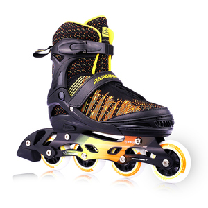 Computerized knitting technology high quality professional adjustable children adult rubber wheels inline roller skates