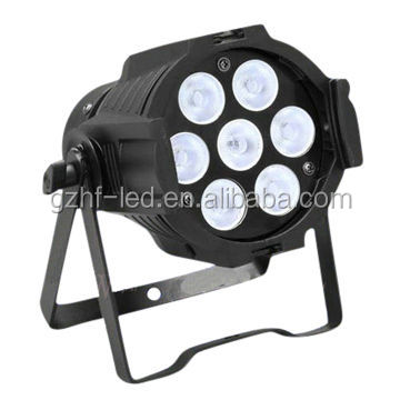 Professional High Power Mini Stage 15w 5in1 RGBWA 7pcs led Par Lighting Color Mixing with DMX Controller