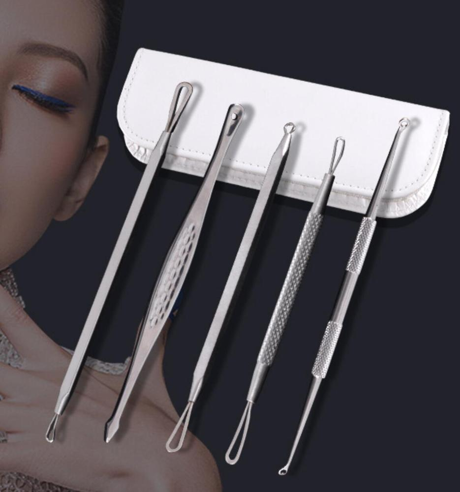 Blackhead Extractor Tool Set for Facial Acne and Comedones