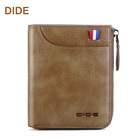 Leather teenager money clip credit card holder smart coin purse rfid wallet man