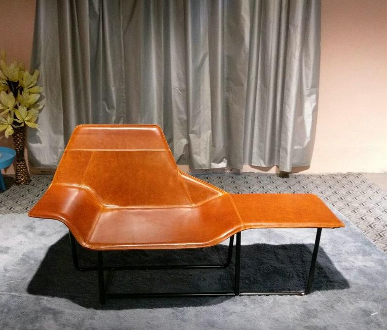 Muebles de diseño moderno zanotta Lama cuero chaise lounge silla por ...