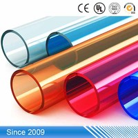 Colorful 2 inch small diameter clear pvc plastic pipe
