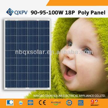 90 95 100w Solar Panel Solar Module For Outdoor Using