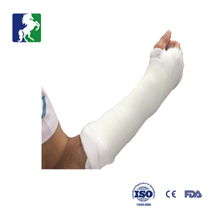surgical fixation modable fiber glass tape and synthetic cast bandage
