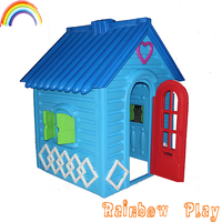 prince design blue colourful role play plastic game play house for kids
