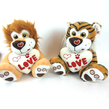 Cute soft stuffed lion tiger plush toys