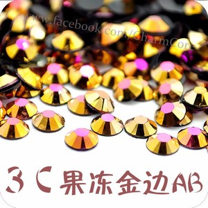Manufacturer Supply Excellent Quality Gold Pink Resin Rhinestone 2mm 3mm 4mm 5mm 6mm Acrylic Stone