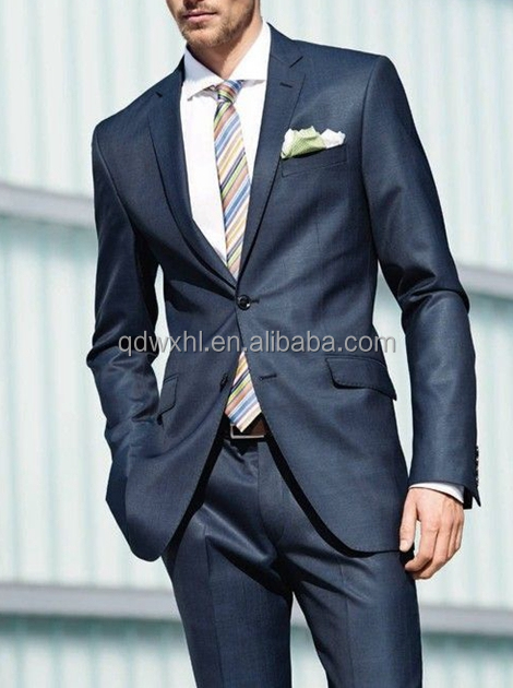 100% Wool Suits Men Made To Measure Men's Suit Fabric 2 Piece ...