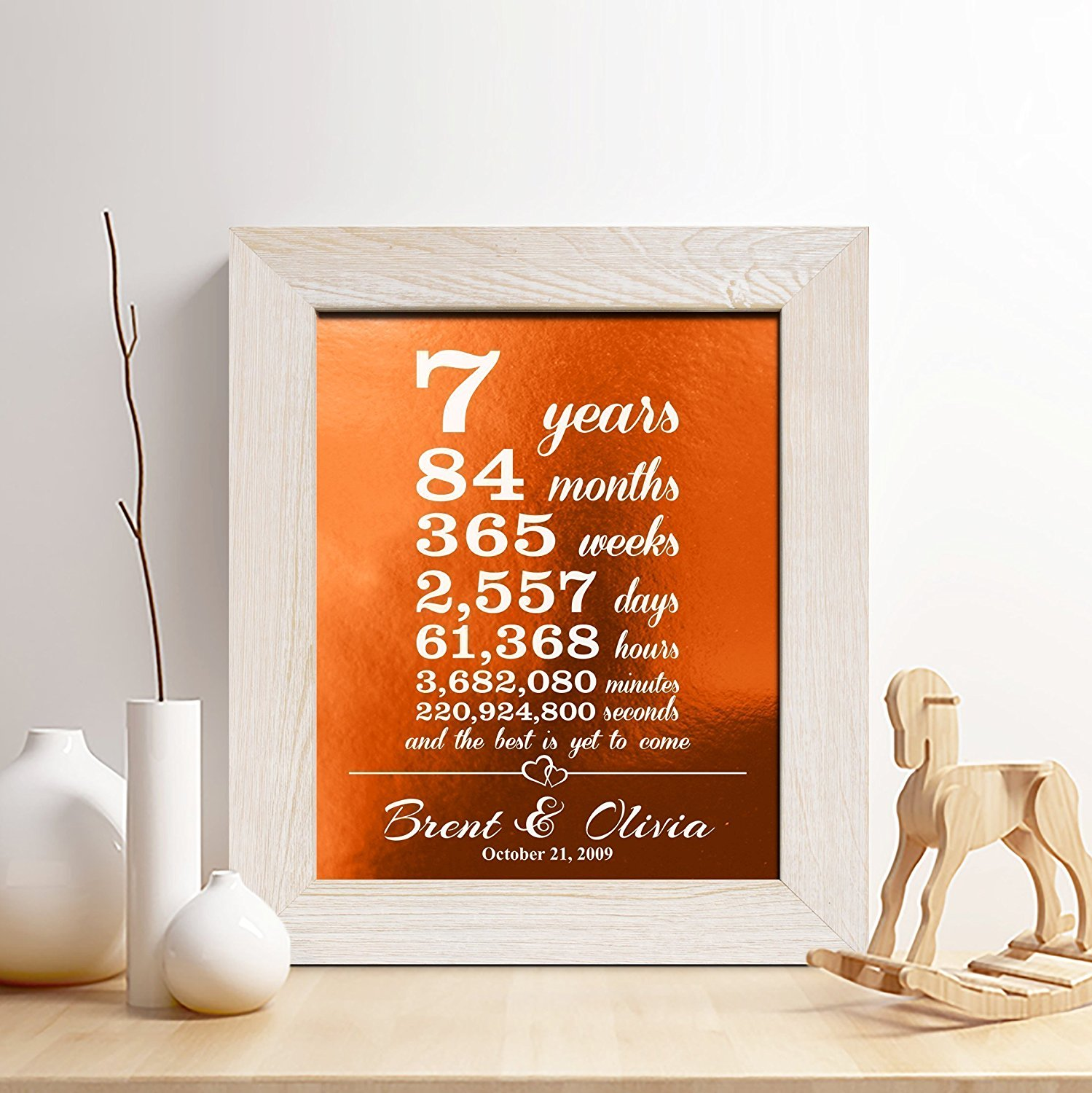 Buy Personalized 7th Copper Anniversary Gift For Him Or Her 7