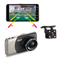 Wholesale China DVR Manufacturer 4 Inch IPS Screen Car DVR Dual Camera 1080P DVR Dash Cam with Hard Drive