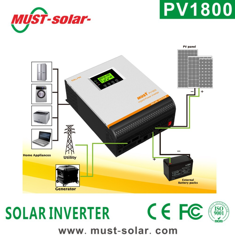 <Must solar > 5kva 4kw solar off grid inverter saving energy storage pure sine wave inverter
