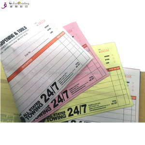 Three color carbonless paper business invoive/taxi log book/invoive copy book receipt