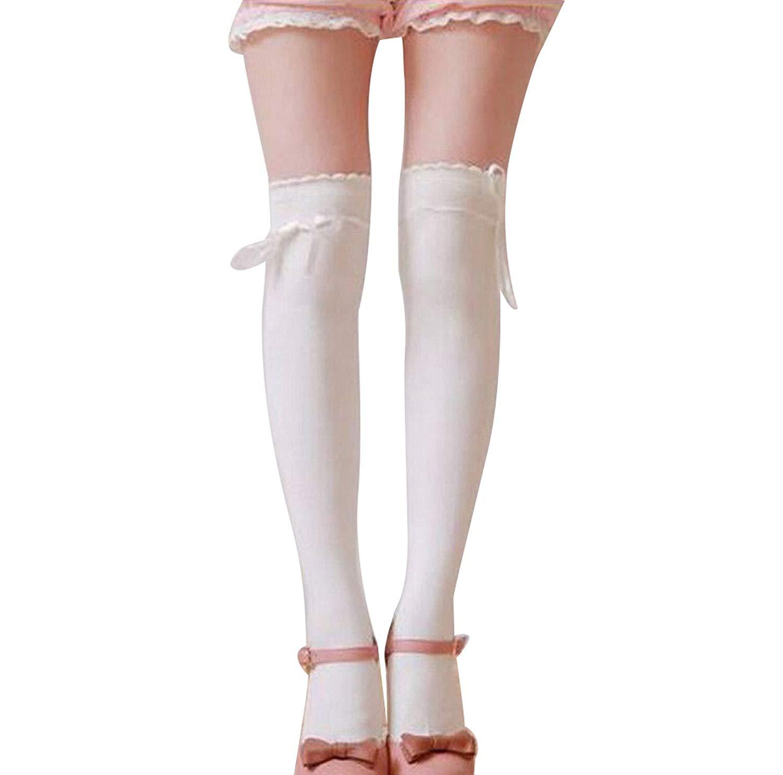 9d77136df2a41 Processes Sexy Fashion Women Girl Thigh High Stockings Knee High Socks 5  Colors Cute Long Cotton