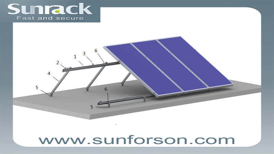 Aluminum Fixing Angle Solar Panel Flat Roof Mounting