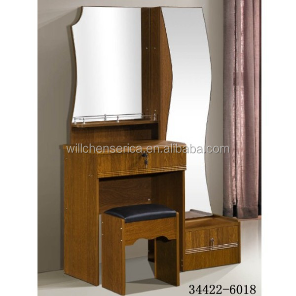 2015 New Design 34422 6018 Wooden Mdf Golden Dresserdressing Table