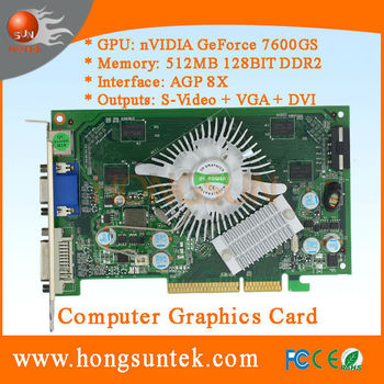 NVIDIA P508 7600GS 512mb Agp Graphic Card For Arcade Games Machine Such As Speed Racing