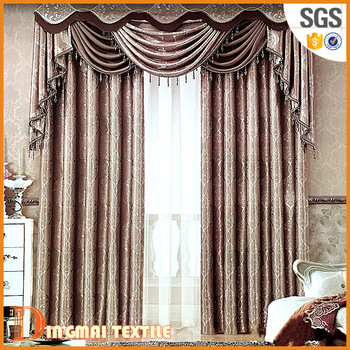 2017 Polyster Turkish Window Cotton Curtains Design For Living Room