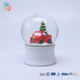 Personalized polyresin water globe with red car and christmas tree figurine inside