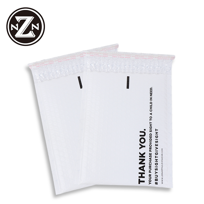 Custom printed wholesale waterproof plastic air padded envelopes pe poly bubble mailer for shop