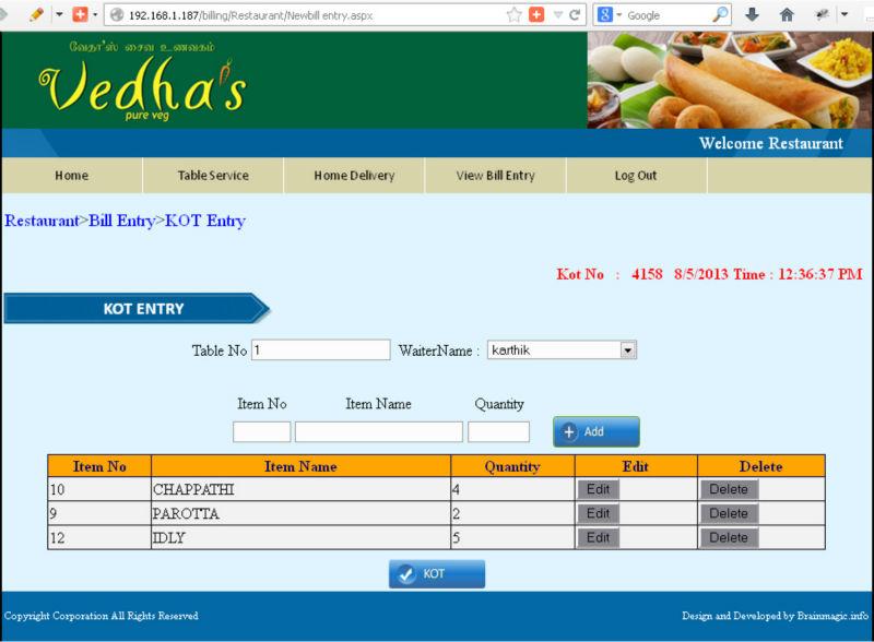 System Alibaba Restaurant billing Software Pos Buy Software On Billing Software hotel Product - com