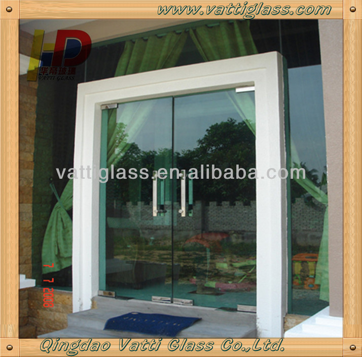 Glass Double Door double leaf glass door with tempered glass, double leaf glass door