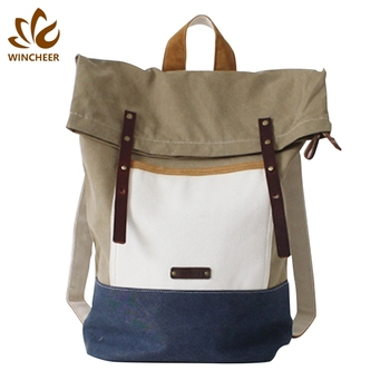 Wholesale high quality laptop school trend back pack cheap canvas American backpack for men