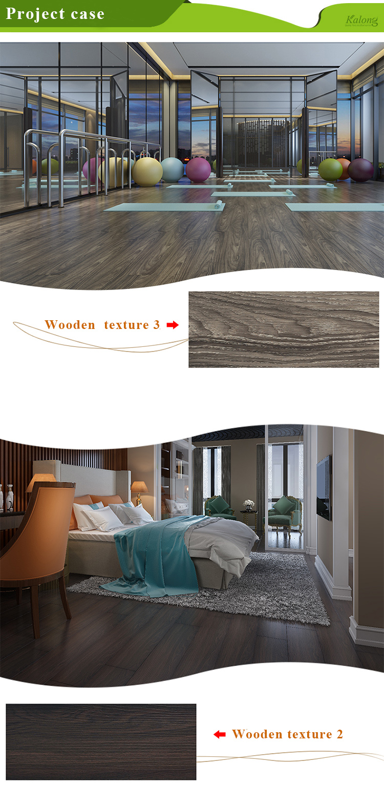 Easy installation formaldehyde-free wood look  SPC flooring