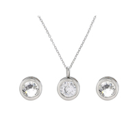 S-283 xuping necklace earring jewelry set zirconia jewelry