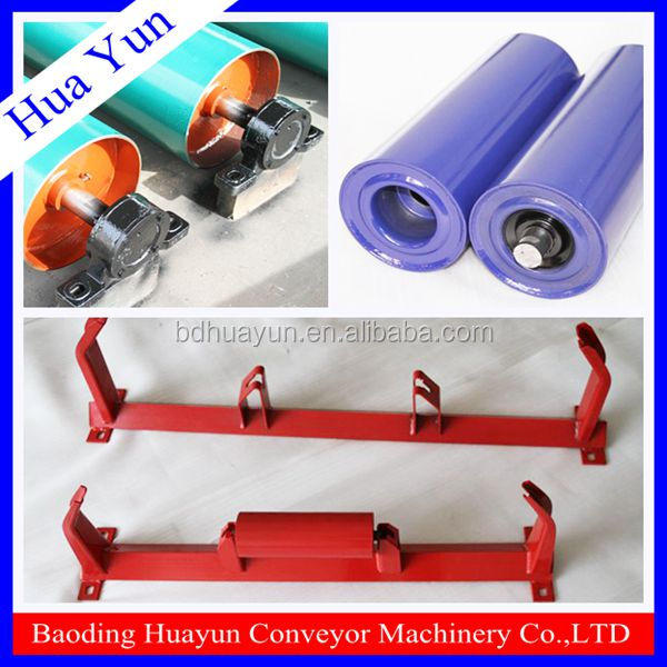 Baoding Huayun ISO Standard Belt Conveyor Components with Idler Roller Pulley Bracket