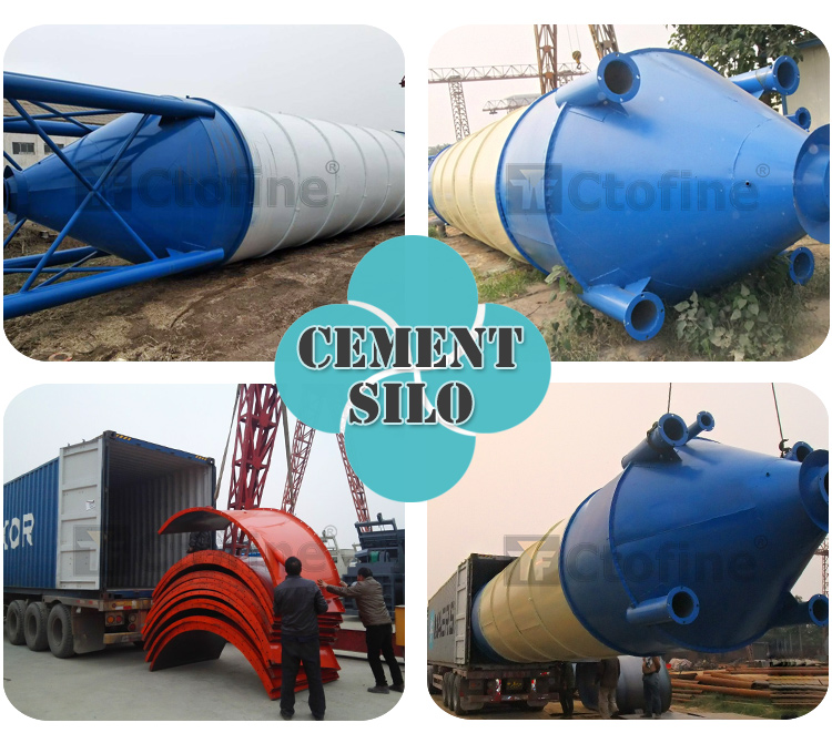Different weight horizontal cement silo with cement silo filter