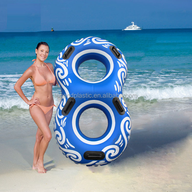 pvc inflatable water park tube for double person, two people water park tube  floating