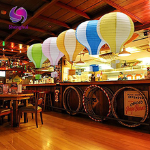 "12''30cm/16""40cm Kids Birthday Party Wedding Decoration 22 Colours for choose 1pc Rainbow Hot Air Balloon Paper Lantern"
