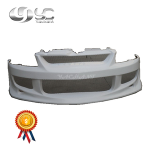 Trade Assurance FRP Fiber Glass Jun Style Front Bumper Fit For 2003-2007 Evolution 8-9 EVO 8 9 Front Bumper Cover