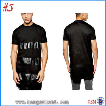 961eda3fb5a Online Shopping T Shirt Manufacturer Bangladesh Wholesale High Quality PU  Panel Zip Detail T Shirt Men