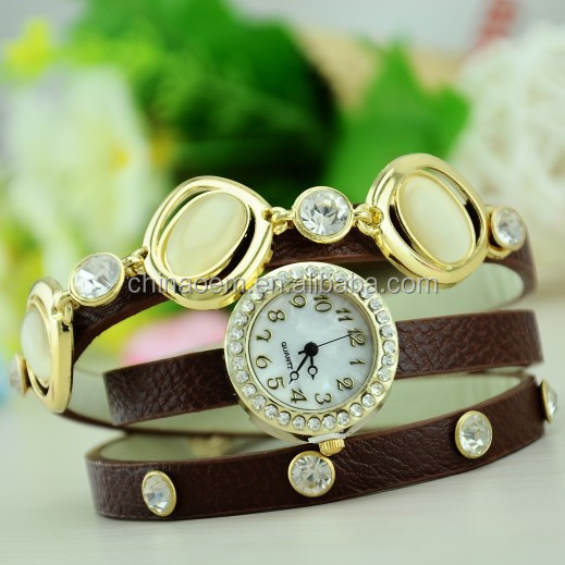 The latest big ShanZuan necklace lady watch the most beautiful gift